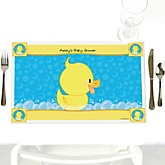 Ducky Duck - Personalized Baby Shower Placemats