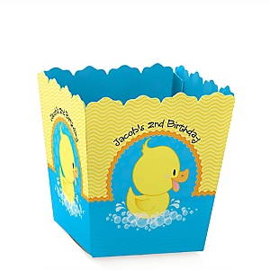 Ducky Duck - Party Mini Favor Boxes - Personalized Birthday Party Treat Candy Boxes - Set of 12