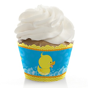 Ducky Duck - Birthday Decorations - Party Cupcake Wrappers - Set of 12