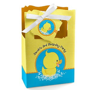 Ducky Duck - Personalized Birthday Party Favor Boxes - Set of 12