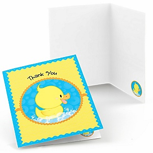 Ducky Duck - Birthday Party Thank You Cards - 8 ct