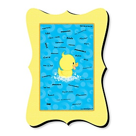 Ducky Duck - Unique Alternative Guest Book - Baby Shower or Birthday Party Signature Mat
