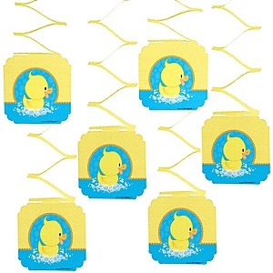 Ducky Duck - Birthday Party Hanging Decorations - 6 ct