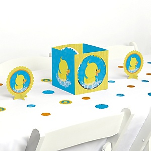 Ducky Duck - Baby Shower or Birthday Party Centerpiece and Table Decoration Kit