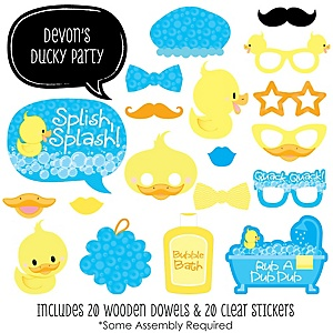 Ducky Duck - 20 Piece Baby Shower or Birthday Party Photo Booth Props Kit