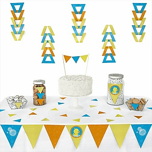 Ducky Duck - 72 Piece Triangle Party Decoration Kit