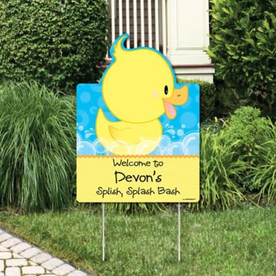 Ducky Duck   Party Decorations   Birthday Party Or Baby Shower Personalized  Welcome Yard Sign