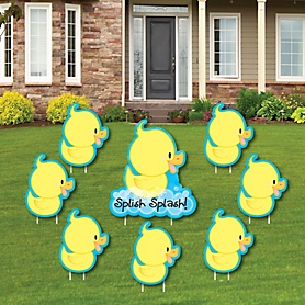 Ducky Duck - Yard Sign & Outdoor Lawn Decorations - Baby Shower or Birthday Party Yard Signs - Set of 8