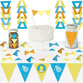 Ducky Duck - DIY  Pennant Banner Decorations - Baby Shower or Birthday Party Triangle Kit - 99 Pieces