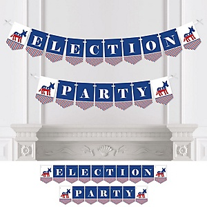 Democrat Election - Democratic Political 2020 Election Party - Personalized Election Bunting Banner & Decorations