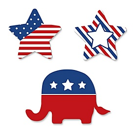 Republican Election - DIY Shaped Political 2020 Election Party Cut-Outs - 24 ct