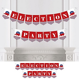 Republican Election - Political 2020 Election Party - Personalized Election Bunting Banner & Decorations