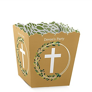 Elegant Cross - Party Mini Favor Boxes - Personalized Religious Party Treat Candy Boxes - Set of 12