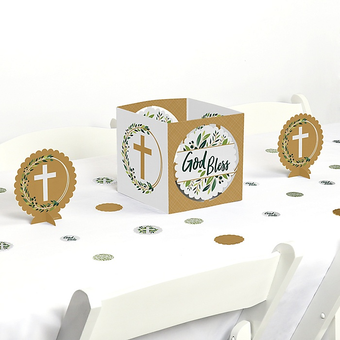 Elegant Cross - Religious Party Centerpiece and Table Decoration Kit