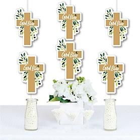 Elegant Cross - Decorations DIY Religious Party Essentials - Set of 20