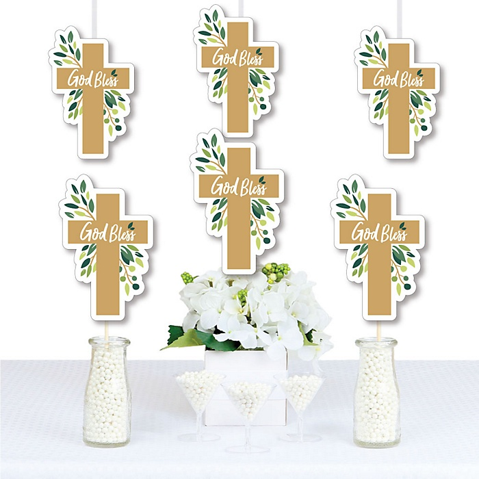 Elegant Cross - Decorations DIY Religious Party Essentials - Set of 20