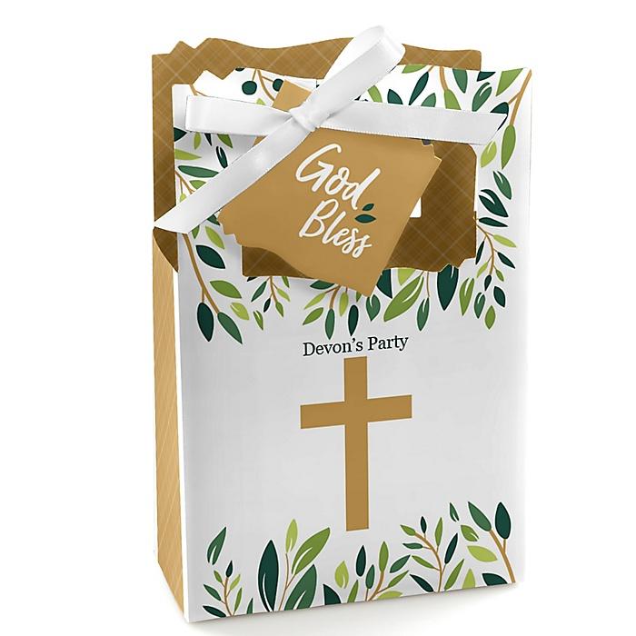 Elegant Cross - Religious Party Favor Boxes - Set of 12