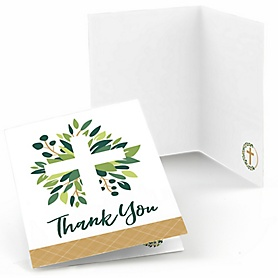 Elegant Cross - Religious Party Thank You Cards - 8 ct
