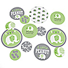 Green Elephant - Personalized Baby Shower or Birthday Party Giant Circle Confetti - Party Decorations - Large Confetti 27 Count