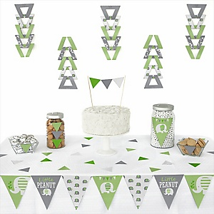 Green Elephant -  Triangle Party Decoration Kit - 72 Piece