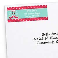 christmas holiday return address labels christmas holiday