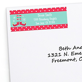Elf Squad - Personalized Kids Elf Christmas and Birthday Party Return Address Labels - 30 ct