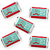 Elf Squad - Mini Candy Bar Wrapper Stickers - Kids Elf Christmas and Birthday Party Small Favors - 40 Count