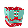 Elf Squad - Party Mini Favor Boxes - Personalized Kids Elf Christmas and Birthday Party Treat Candy Boxes - Set of 12