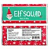 Elf Squad - Personalized Candy Bar Wrapper Kids Elf Christmas and Birthday Party Favors - Set of 24