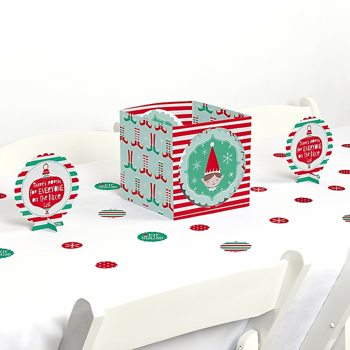 Elf Squad - Kids Elf Christmas and Birthday Party Centerpiece & Table Decoration Kit