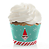 Elf Squad - Kids Elf Christmas and Birthday Party Decorations - Party Cupcake Wrappers - Set of 12