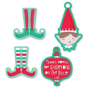 Elf Squad - DIY Shaped Kids Elf Christmas and Birthday Party Cut-Outs - 24 ct