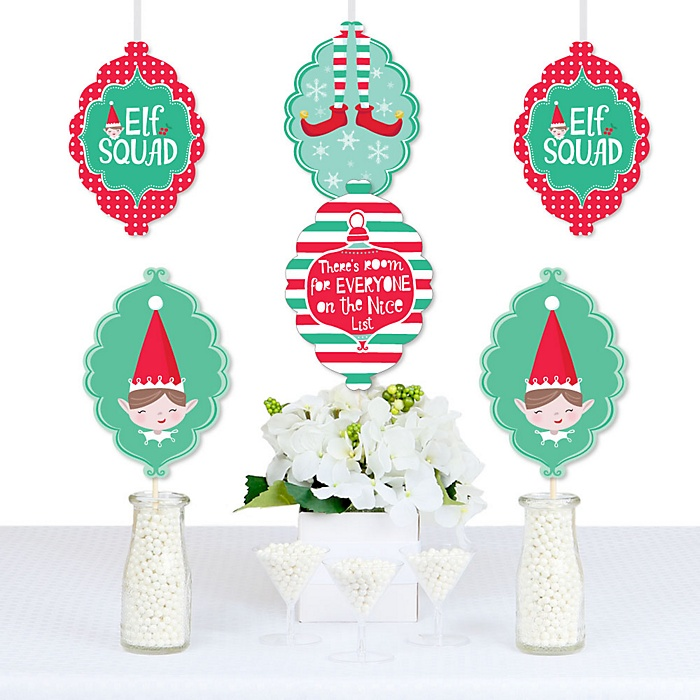 Elf Squad - Decorations DIY Kids Elf Christmas and Birthday Party Essentials - Set of 20