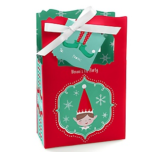Elf Squad - Kids Elf Christmas and Birthday Party Gift Favor Boxes - Set of 12