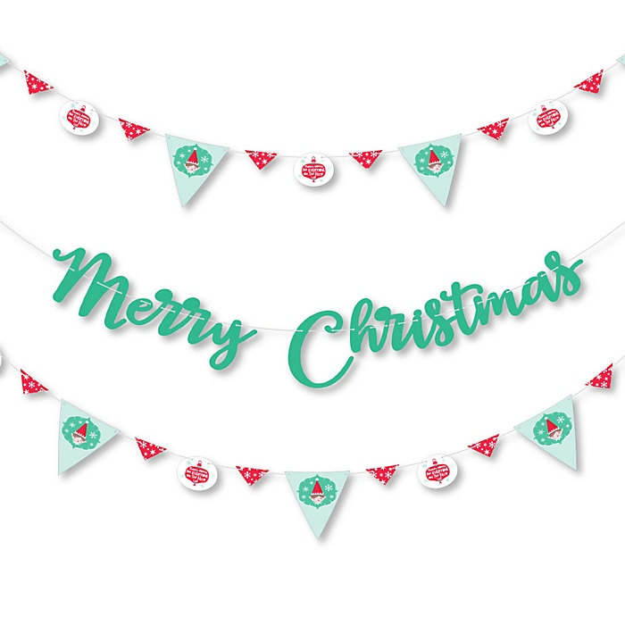 Elf Squad - Kids Elf Christmas and Birthday Party Letter Banner Decoration - 36 Banner Cutouts and Elf Squad Banner Letters