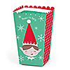Elf Squad - Personalized Kids Elf Christmas and Birthday Party Popcorn Favor Treat Boxes - Set of 12
