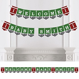 End Zone - Football - Personalized Party Bunting Banner & Decorations