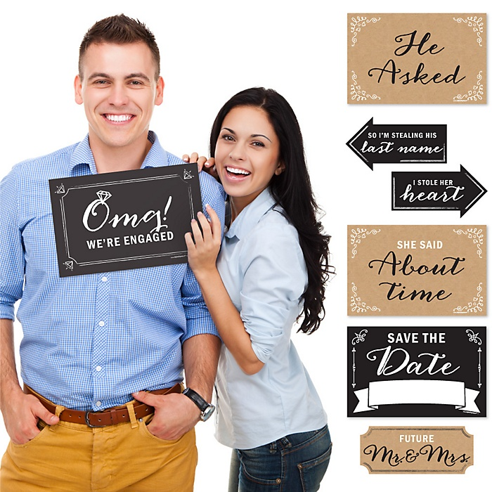 Engagement Announcement - 10 Piece Photo Props Kit