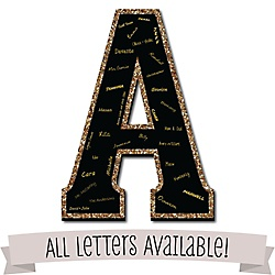 Birthday party favors and do it yourself bigdotofhappiness signature letters guest book sign letters 21 foam board guestbook alternative black with gold monogram letters solutioingenieria Image collections