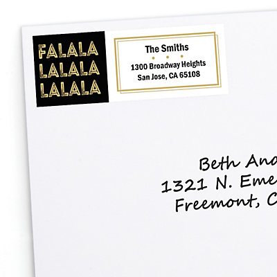 fa la la 30 personalized christmas return address labels