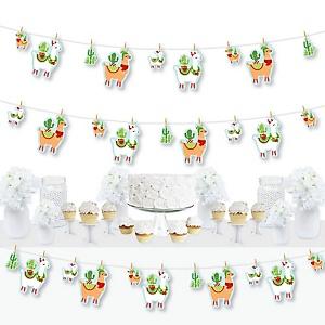 Fa La Llama - Christmas and Holiday Party DIY Decorations - Clothespin Garland Banner - 44 Pieces