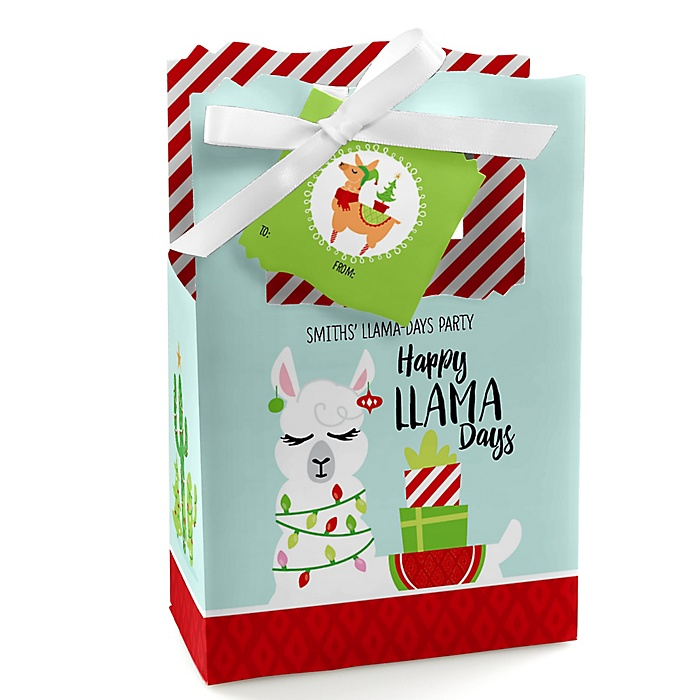 Fa La Llama - Personalized Christmas and Holiday Party Favor Boxes - Set of 12