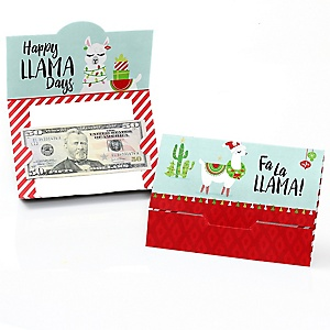 Fa La Llama - Christmas and Holiday Party Money And Gift Card Holders - Set of 8