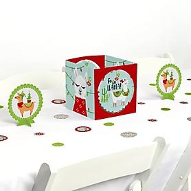 Fa La Llama - Christmas and Holiday Party Centerpiece & Table Decoration Kit