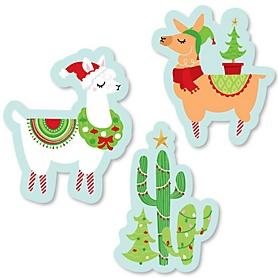 Fa La Llama - DIY Shaped Christmas and Holiday Party Cut-Outs - 24 ct