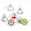 Fa La Llama - Christmas and Holiday Party Round Candy Sticker Favors - Labels Fit Hershey's Kisses (1 sheet of 108)