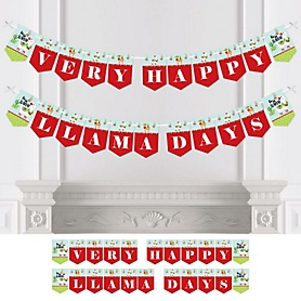 Fa La Llama - Personalized Christmas and Holiday Party Bunting Banner & Decorations
