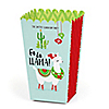 Fa La Llama - Personalized Christmas and Holiday Party Popcorn Favor Treat Boxes - Set of 12