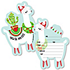 Fa La Llama - Shaped Fill-In Invitations - Christmas and Holiday Party Invitation Cards with Envelopes - Set of 12