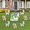 Fa La Llama - Yard Sign & Outdoor Lawn Decorations - Christmas and Holiday Party Yard Signs - Set of 8